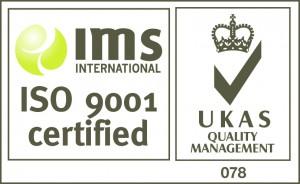 UKAS IMS ISO 9001 Logo WHITE BACKGROUND